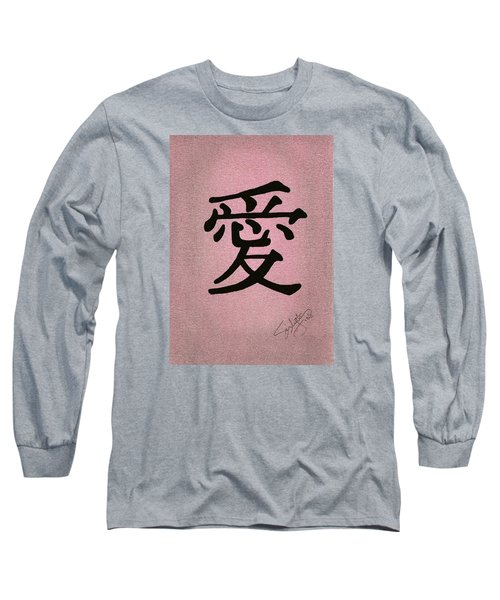 Long Sleeve T-Shirt featuring the drawing Love by Troy Levesque