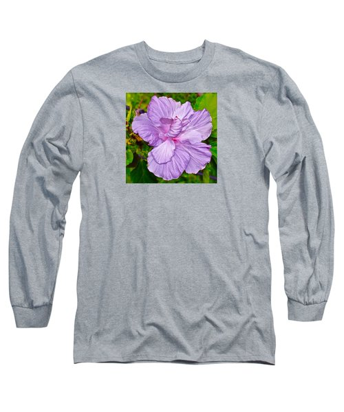 Luscious Lavender Hibiscus Long Sleeve T-Shirt