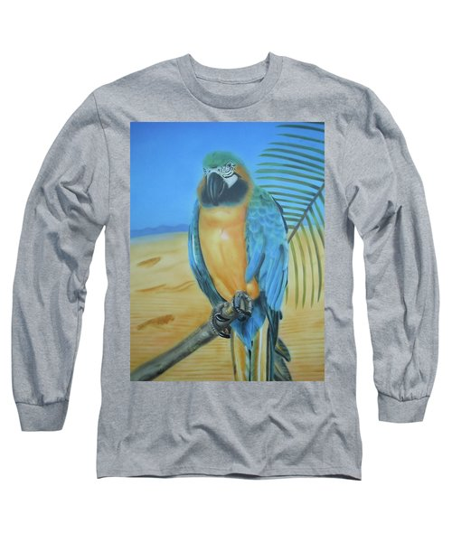 Long Sleeve T-Shirt featuring the painting Macaw On A Limb by Thomas J Herring