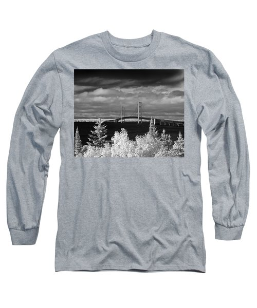 Macinac Bridge - Infrared Long Sleeve T-Shirt