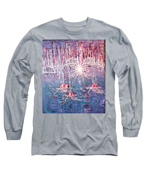 Belmont Turn Magenta Chicago Long Sleeve T-Shirt by George Riney