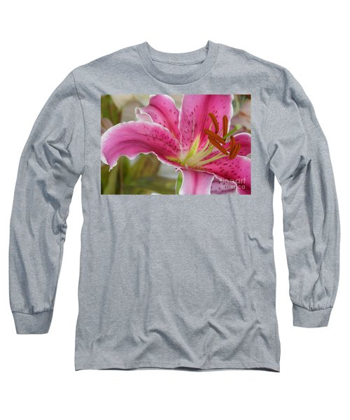 Magenta Tiger Lily Long Sleeve T-Shirt
