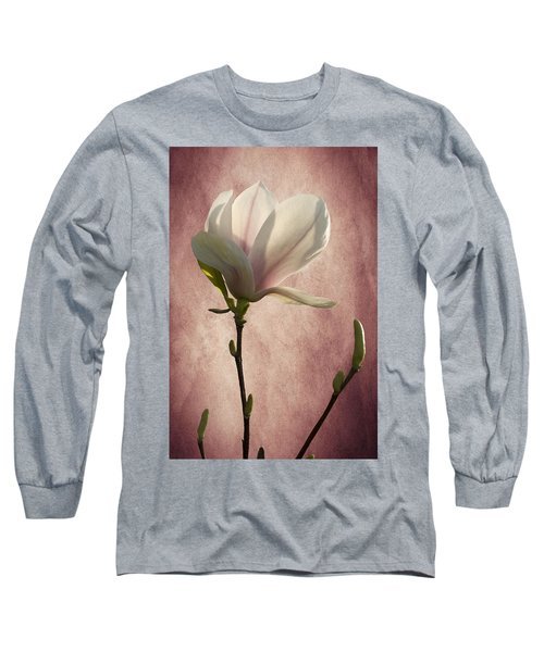 Long Sleeve T-Shirt featuring the photograph Magnolia by Ann Lauwers