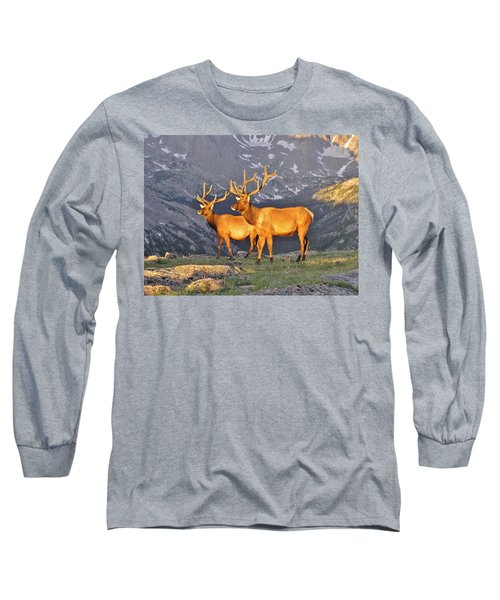 Long Sleeve T-Shirt featuring the photograph Majestic Elk by Diane Alexander