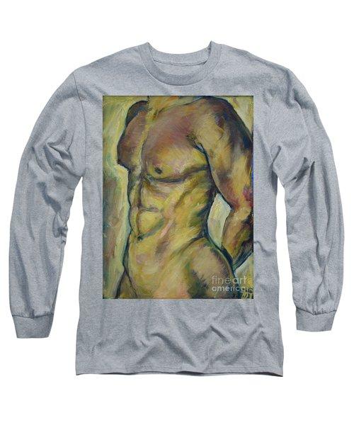 Nude Male Torso Long Sleeve T-Shirt