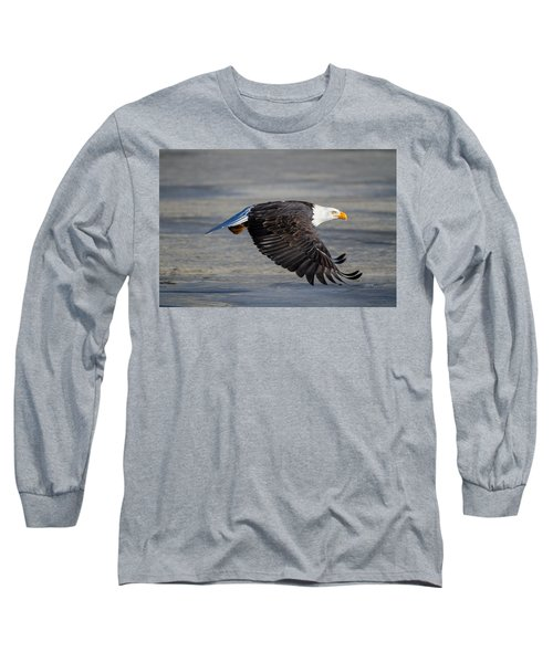 Male Wild Bald Eagle Ready To Land Long Sleeve T-Shirt