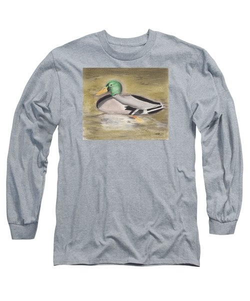 Mallard Long Sleeve T-Shirt by David Jackson