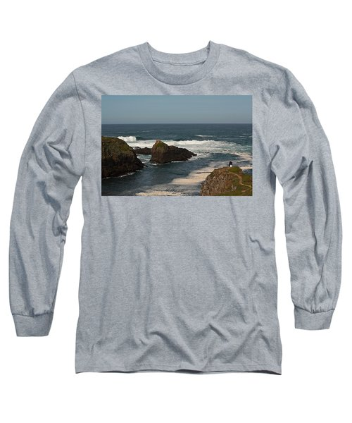 Man Fishing Long Sleeve T-Shirt by Brian Williamson
