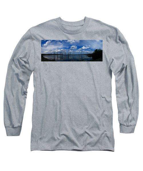 Manasquan Reservoir Panorama Long Sleeve T-Shirt
