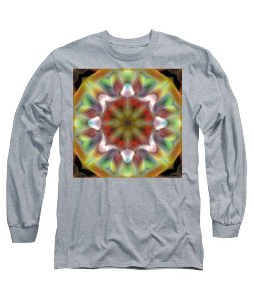 Long Sleeve T-Shirt featuring the digital art Mandala 97 by Terry Reynoldson