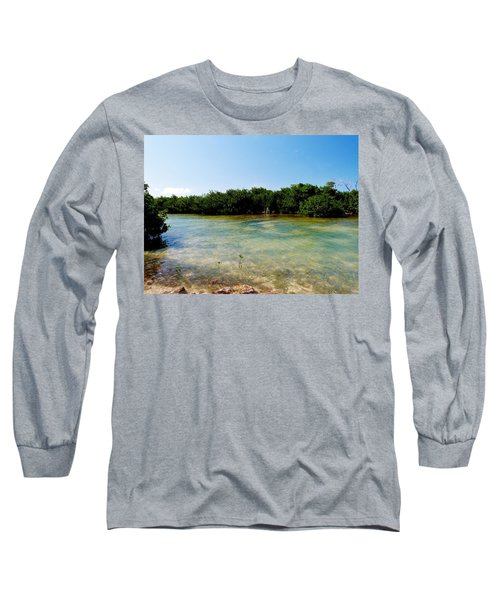 Long Sleeve T-Shirt featuring the photograph Mangrove @ Safehaven Sound by Amar Sheow