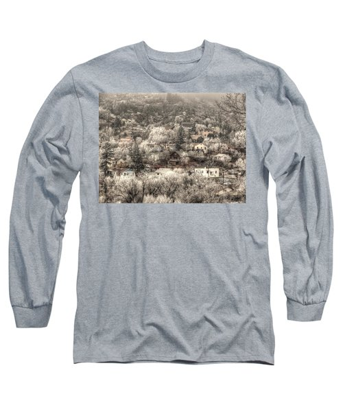Long Sleeve T-Shirt featuring the photograph Manitou To The South In Snow Close Up by Lanita Williams