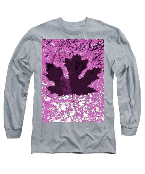 Maple Leaf Purple Pop Poster Hues  Long Sleeve T-Shirt