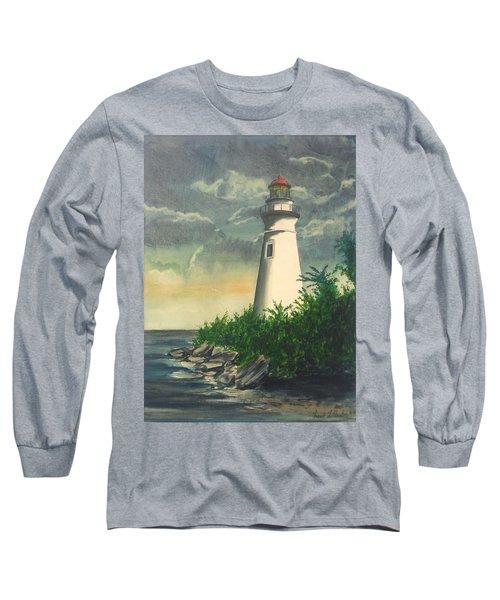 Marblehead Light On Lake Erie Long Sleeve T-Shirt