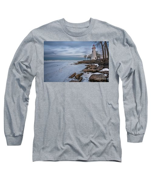Marblehead Lighthouse  Long Sleeve T-Shirt by James Dean