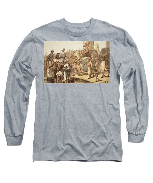 March Of The Indian Army, Engraved Long Sleeve T-Shirt