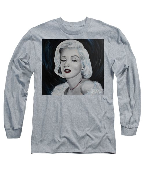 Long Sleeve T-Shirt featuring the painting Marilyn Monroe by Julie Brugh Riffey