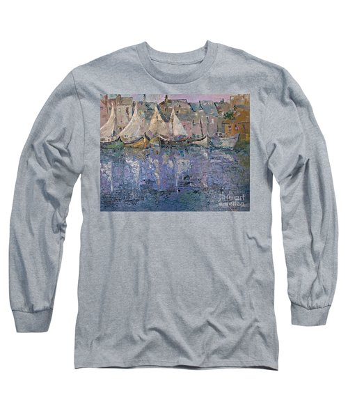 Long Sleeve T-Shirt featuring the painting Marina by AmaS Art