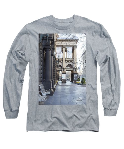 Marvellous Melbourne 3 Long Sleeve T-Shirt by Linda Lees