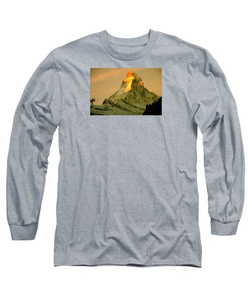 Matterhorn In Switzerland Long Sleeve T-Shirt