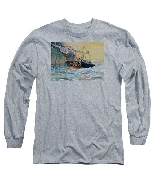 Mayday Mayday Long Sleeve T-Shirt by Ray Agius