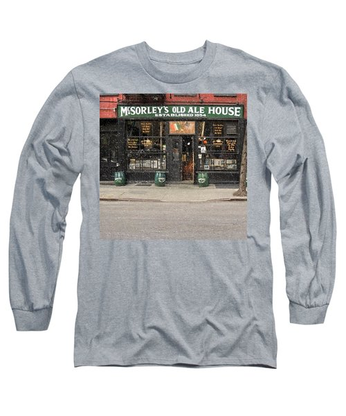 Mcsorley's Old Ale House Long Sleeve T-Shirt by Doc Braham