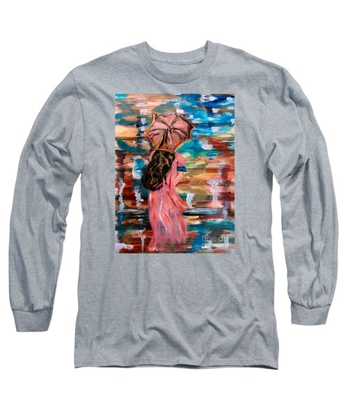 Long Sleeve T-Shirt featuring the painting Memories by Lori  Lovetere