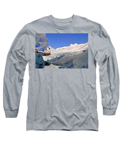 Long Sleeve T-Shirt featuring the photograph Mendenhall Glacier Refraction by Cathy Mahnke