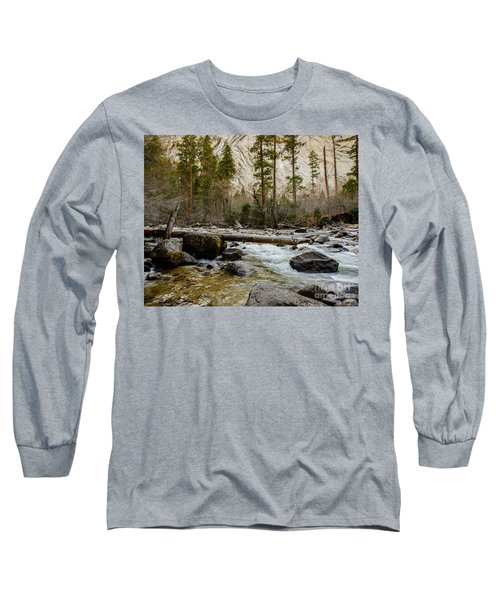 Merced River From Happy Isles 2 Long Sleeve T-Shirt