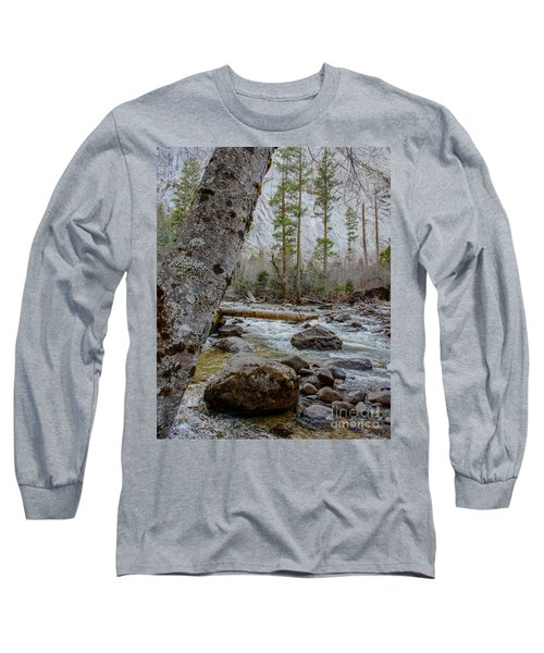 Merced River From Happy Isles Long Sleeve T-Shirt