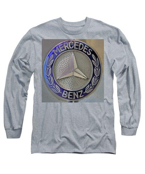 Mercedes Benz Badge Blue Long Sleeve T-Shirt