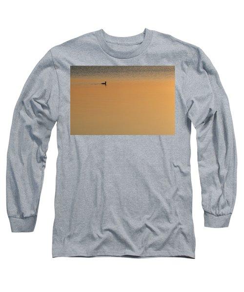 Merganser Duck, Cape Cod, Ma Usa Long Sleeve T-Shirt