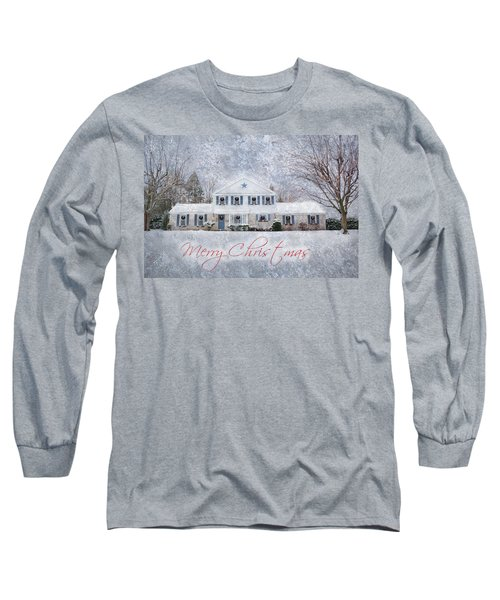 Wintry Holiday - Merry Christmas Long Sleeve T-Shirt