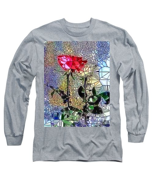 Metalic Rose Long Sleeve T-Shirt