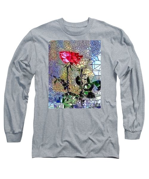 Metalic Rose Long Sleeve T-Shirt