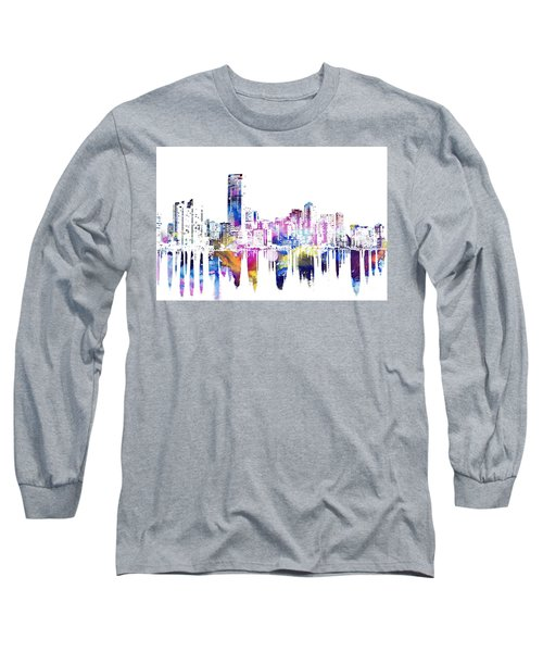 Miami Skyline Long Sleeve T-Shirt by Doc Braham