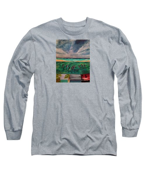 Long Sleeve T-Shirt featuring the painting Delfin by Vanessa Palomino