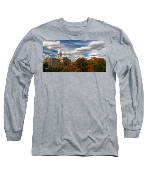Michgan Capitol - Autumn Long Sleeve T-Shirt by Larry Carr
