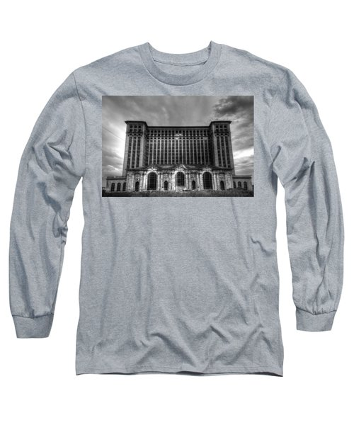 Michigan Central Station Bw Long Sleeve T-Shirt