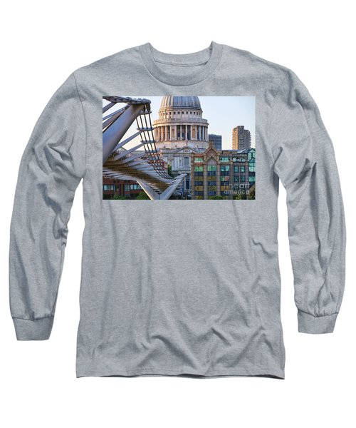 Millennium Bridge And St Pauls Cathedral 5410 Long Sleeve T-Shirt