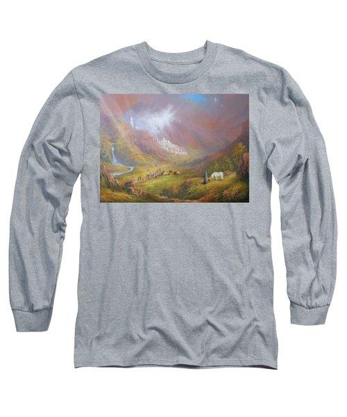 Minas Tirith  War Approaches. Long Sleeve T-Shirt by Joe  Gilronan