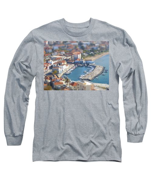 Miniature Port Long Sleeve T-Shirt by Vicki Spindler