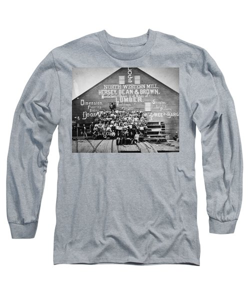 Minnesota Sawmill, 1870 Long Sleeve T-Shirt