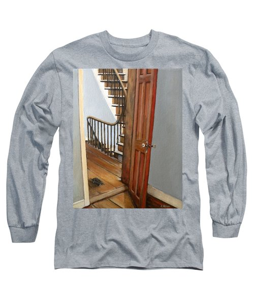 Minnie Crossing The Threshold  Long Sleeve T-Shirt by Eileen Patten Oliver