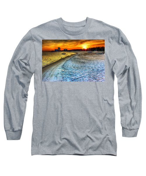 Beach - Coastal - Sunset - Mississippi Gold Long Sleeve T-Shirt by Barry Jones