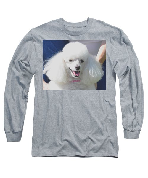 Missy White Poodle Long Sleeve T-Shirt by Jay Milo