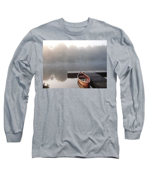 Mist Floating Over The Lake Long Sleeve T-Shirt