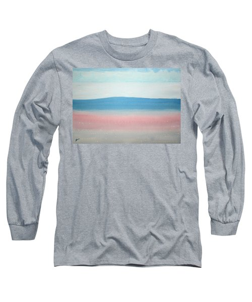 Misty Lake Original Painting Long Sleeve T-Shirt