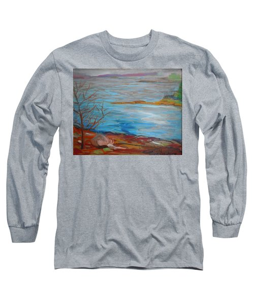 Long Sleeve T-Shirt featuring the painting Misty Surry by Francine Frank