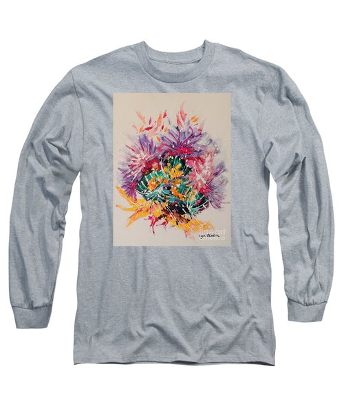 Long Sleeve T-Shirt featuring the painting Mixed Coral by Lyn Olsen